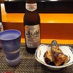 玄海鮨 - ノンアルビール と お通し