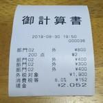 玄海鮨 - レシート です  安いですよね。