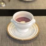 ル ポンデュガール ユキノブ ツキダテ - ツキダテファーム 紫芋ポタージュ