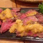 暴走熟成肉庫 肉アバンギャルド - 熟成肉のウニのせ