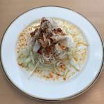 ボール パーク - 豚しゃぶとネギの坦々麺風の冷製パスタ