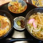 みき寿司 - ミニかつ丼セット550円+うどんミニ→並150円各税別