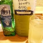 源寿司 - ドリンク写真:鏡月&お茶