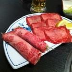 松永牧場 - リブロース巻き。うまい。塩タン。