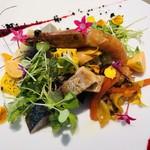114591457 - 冷薫の鯖をはじめ、鮎や毛蟹等20種類の食材の入った素晴らしい前菜(^^)   味や食感、香りの変化が楽しめ、全く飽きさせません(o^^o)そして美しい(o^^o)