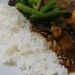 カフェ デ カリー - ご飯&カレーアップ