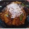 餃子の王将 - 料理写真:麻婆茄子ザージャーメン この下に麺がたっぷり