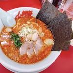 山岡家山形西田店 - 辛味噌ラーメン 750円 半ライス 120円