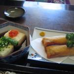 丸嶋 - 揚げ出し豆腐と春巻