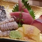 鮨 割烹 福松 - 刺身盛り合わせ