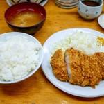 とんかつ山家 - ■ロースかつ定食 750円