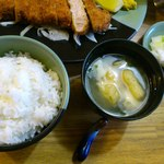 11461980 - ご飯、味噌汁、漬物。