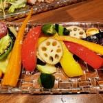 南あわじ美食農園オリザ - 淡路島産旬野菜の素揚げ