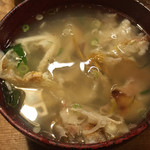 久鶴 - 甘鯛の骨汁