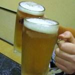 チーズタッカルビ 肉 居酒屋半 - 生ビールで乾杯!