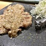 串打ち 大地 - 豚肉の塩生姜焼き
