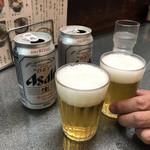 洛二神 - 缶ビール350円で乾杯!