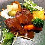 114635060 - お肉料理(仔牛のソテーデミグラスソース)