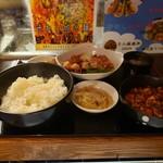 炎麻堂 - 油淋鶏定食ミニ麻婆豆腐