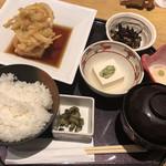 和食バル 音音 - 湯葉と豆腐の揚げ出しごはん@1,000円