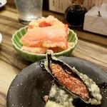 喜久や - 明太子と紅しょうがの天ぷら