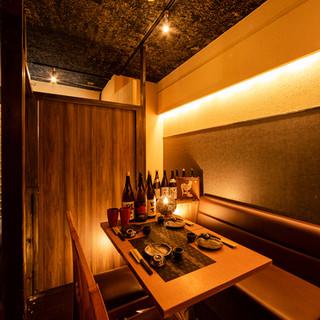 雰囲気抜群の洗練された和空間の個室・半個室をご用意