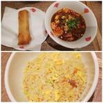 上海湯包小館 - ◆揚げ春巻き、麻婆豆腐◆♪ ◆チャーシューチャーハンハーフ◆♪