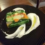 八丁堀ワイン食堂パパン - 15種類野菜のテリーヌ
