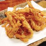 蕎楽 - 白えびの天ぷら
