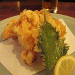 能登美 - 牡蠣の天ぷら