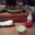 Masuda - 目の前のカウンターにはたこ、青唐じゃこ煮が並んでいます。
