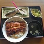 川の駅 松平 - 「特うなぎ丼 (1200円)」と「鮎の塩焼き (600円)」
