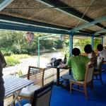 川の駅 松平 - 桟敷から川のせせらぎを感じながらの食事