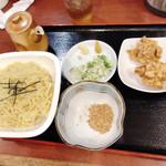 中華食堂 味鮮 - B中華つけ麺セット 950円 写真+ミニ炒飯
