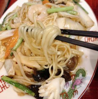 中華食堂 味鮮 - 五目あんかけ焼きそば