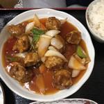 中国料理 桃仙 - 酢豚定食