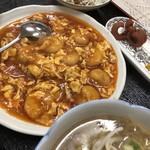 中国料理 桃仙 - エビチリ定食