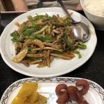 中国料理 桃仙 - 青椒肉絲定食