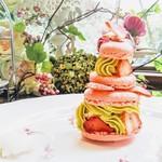 つくしんぼカフェ - 苺のプリンセスショートケーキ