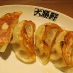 西台 大勝軒 - ・「ぎょうざ4個(¥300)」