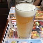 長浜ラーメン一番 - ドリンク写真:2019年8月25日  生ビール中(アサヒスーパードライ)