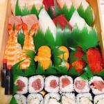 清寿司 - 彩はまさに芸術的!