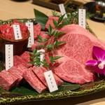 焼肉 すき焼き 純 - 和牛クラシタ7部位の食べ比べ¥4680