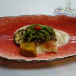 可児かまど - 魚と野菜の洋風なソースが掛かったやつ