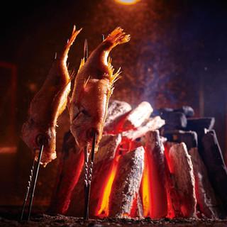 特大最高級のどぐろを原始焼きという調理法で贅沢な姿焼きに。