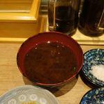 むさしや - 赤味噌の味噌汁