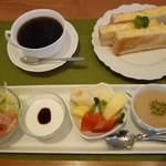 CAFEりんく - モーニング(サンドセット全体)