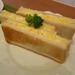 CAFEりんく - エッグサンド(たまごたっぷりおいしいです)
