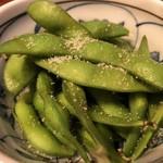 日本酒chintara 燻ト肉 - 燻製塩あえ枝豆