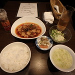 イケガメ - 特製チャイナ定食¥1,000「四川麻婆豆腐」